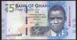 Ghana 5 Cedis PK 43 (4-3-2017) UNC