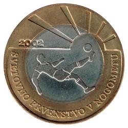 Eslovenia 2002 500 Tolarjev Bimetálica (Fútbol) S/C