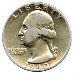 United States 1940 - 1952 1/4$ Washington VF