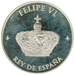 Official Medal of the Proclamation of Felipe VI 2014 PROOF
