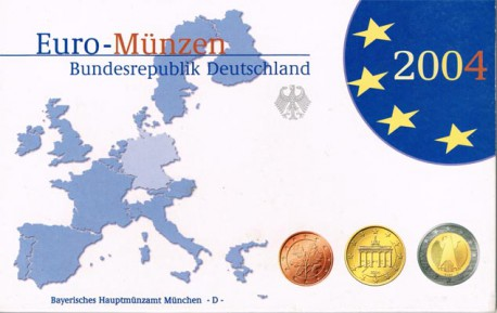 Alemania 2004 Cartera 8 valores Ceca D PROOF