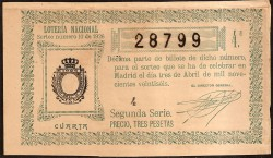 1926 Lotery Draw number 10