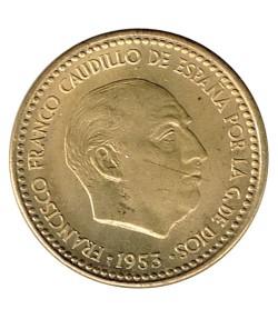 1 Peseta 1953 (54) KM 775 XF