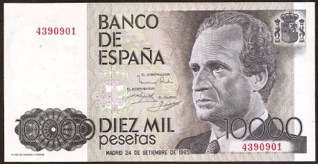 10000 Ptas 1985 Juan Carlos I. Príncipe Felipe. S/C Sin Serie