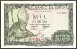 1000 Pesetas 1965 San Isidoro. Sin Serie. SC-