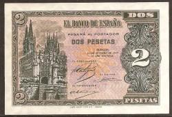 2 Pesetas Octubre 1937 S/C. Serie A.