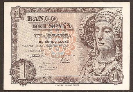 1 Peseta 1948 Dama de Elche S/C. Serie Ñ.