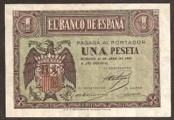 1 Peseta 1938. Pick 108. UNC