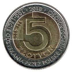 Polonia 2018 5 Zlotys (Centenario Independencia de Polonia) S/C