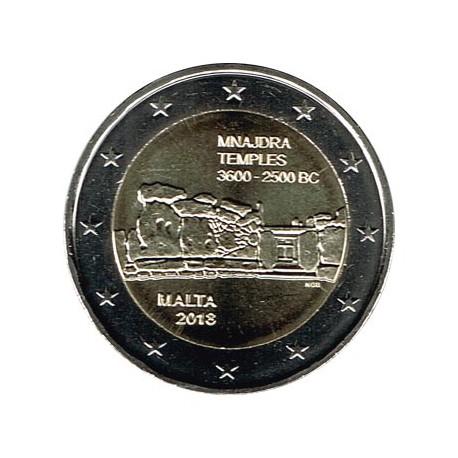 Malta 2018 2 Euros Templos de Mnajdra S/C
