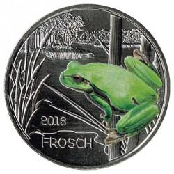 Austria 2018 3 Euros Frog UNC