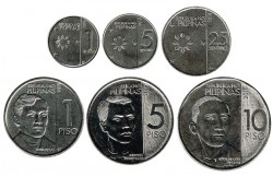 Philippines 2017 - 2018 6 Coins (1,5 and 20 Centimes. 1,5 and 10 Piso) UNC