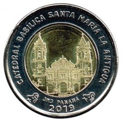 Panamá 2019 1 Balboa (Catedral de Santa María la Antigua) S/C