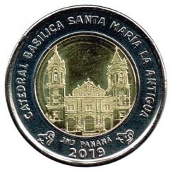 Panama 2018 1 Balboa (Cathedral of Santa Maria la Antigua) UNC