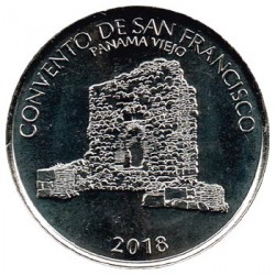 Panama 2018 1/2 Balboa (Convent of San Francisco ) UNC