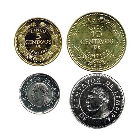 Honduras 1999 - 2006 4 valores (5,10,20 y 50 Centavos) S/C