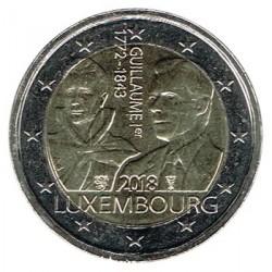 Luxemburgo 2018 2 Euros 175 Aniv. de la muerte del Gran Duque Guillermo I S/C