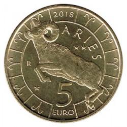 San Marino 2018 5 Euros. Zodiaco: Aries S/C