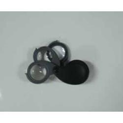 Lupa Bolsillo Tres lentes (3,5 y 10 aumentos). 30 mm.