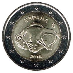 España 2015 2 Euros Cueva Altamira S/C