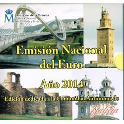 España 2014 Cartera Oficial Comunidades Galicia S/C