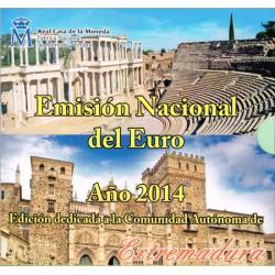 España 2014 Cartera Oficial Comunidades Extremadura S/C