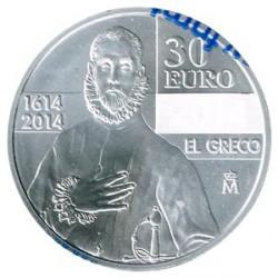 España 2014 30 Euros Plata El Greco S/C