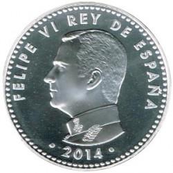 España 2014 30 Euros Plata Proclamación Felipe VI S/C