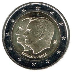 España 2014 2 Euros Proclamación Felipe VI S/C