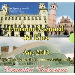 España 2013 Cartera Oficial Comunidades Valencia S/C
