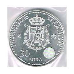 España 2013 30 Euros Plata 75º Aniv. del Rey S/C