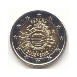 España 2012 2 Euros 10 años de Circulación del Euro S/C