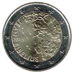 Finlandia 2015 2 Euros 150 Aniv. nacimiento de Jean Sibelius S/C