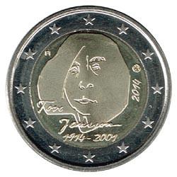 Finlandia 2014 2 Euros Tove Jansson S/C