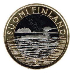 Finlandia 2014 5 Euros Gavia ártica S/C