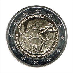 Grecia 2013 2 Euros 200 Años unión Creta a Grecia S/C