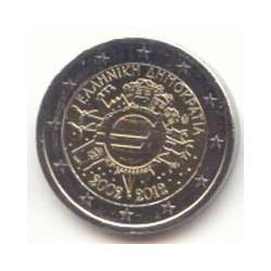 Grecia 2012 2 Euros 10 Años de Circulación del Euro S/C
