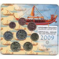 """Grecia 2009 Cartera Oficial Con los 2€ """"Rapto de Europa"""" S/C"""