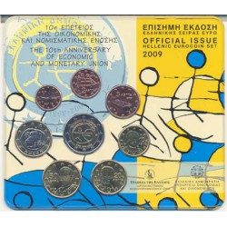 Grecia 2009 Cartera Oficial Con 2€ del 10º Aniversario (EMU) S/C
