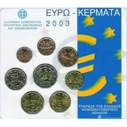 Grecia 2003 Cartera Oficial S/C