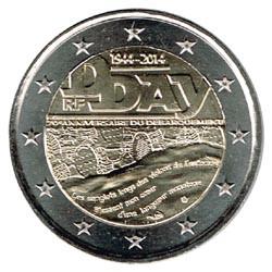 Francia 2014 2 Euros Día D S/C