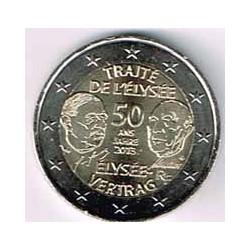 Francia 2013 2 Euros Tratado del Elíseo S/C