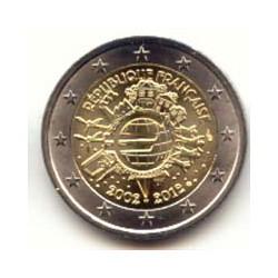 Francia 2012 2 Euros 10 Años de Circulación del Euro S/C