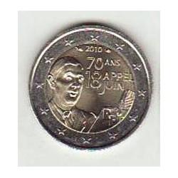 Francia 2010 2 Euros De Gaulle S/C