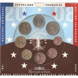 Francia 2008 Cartera Oficial S/C