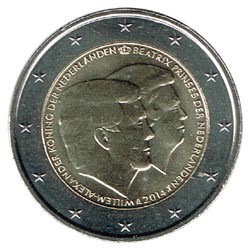 Holanda 2014 2 Euros Doble Retrato S/C