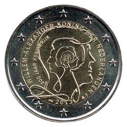 Holanda 2013 2 Euros 200 Años de Unión S/C