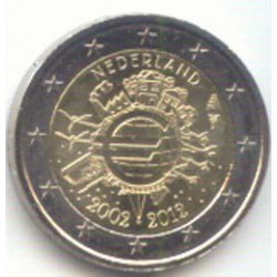 Holanda 2012 2 Euros 10 Años de Circulación del Euro S/C
