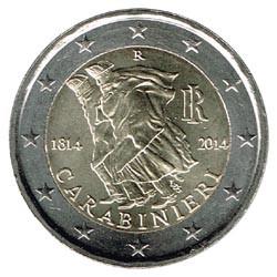 Italia 2014 2 Euros Carabinieri S/C
