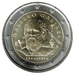 Italia 2014 2 Euros Galileo Galilei S/C